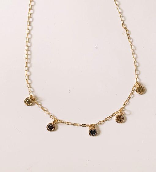 disc necklace moxie dainty