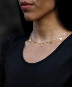 disc necklace dainty moxie