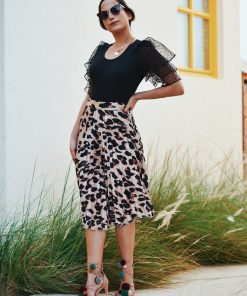 Emma Leopard Skirt Moxie
