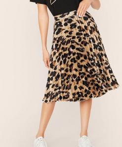 Emma Leopard Skirt