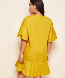 Back Yellow Dress Moxie Curve