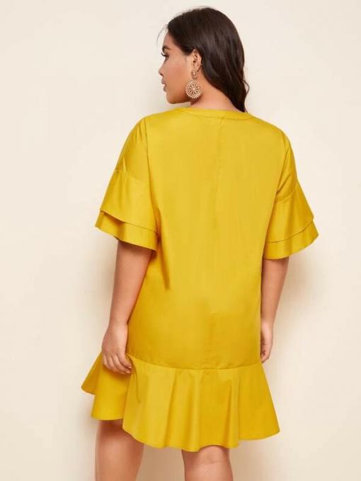 Back Yellow Dress Moxie Curve