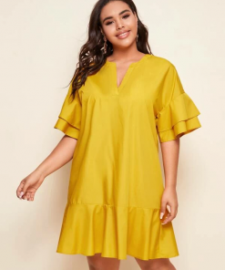 Yellow Dress Moxie Curve
