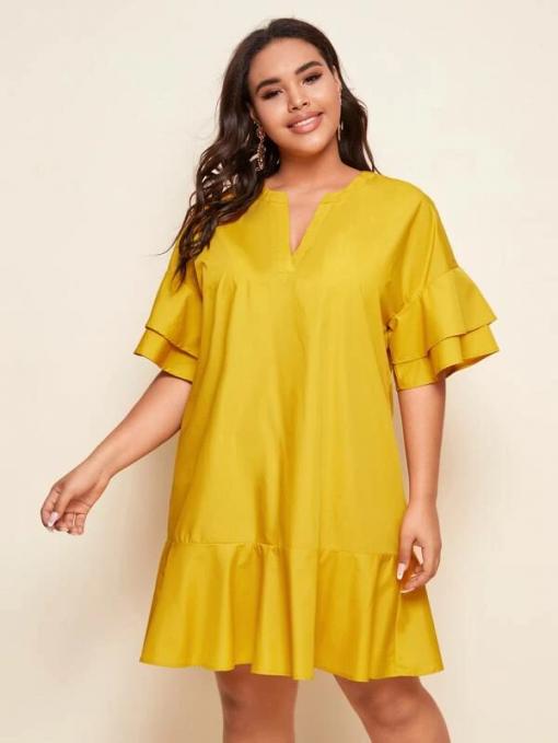 Yellow Dress Moxie Curve