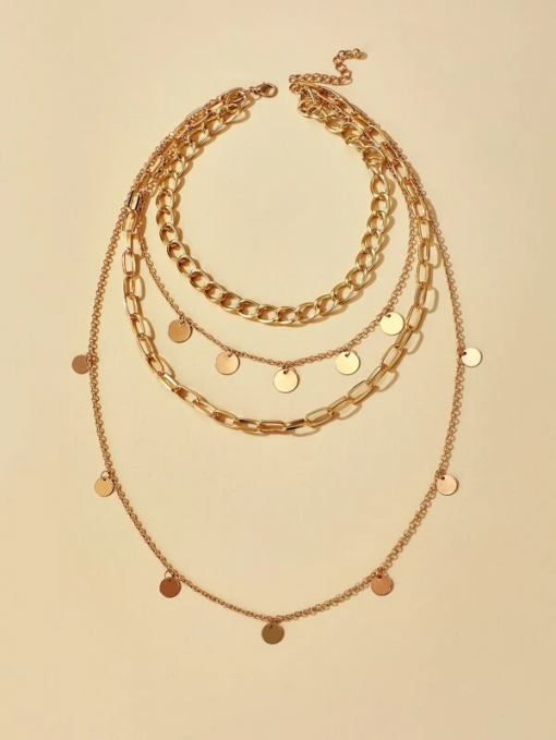 4 layer disc necklace moxie