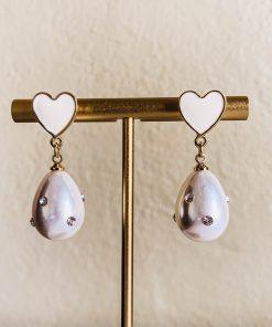 Moxie Aruba Pearl Heart Earrings