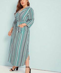 Jade Striped Dress