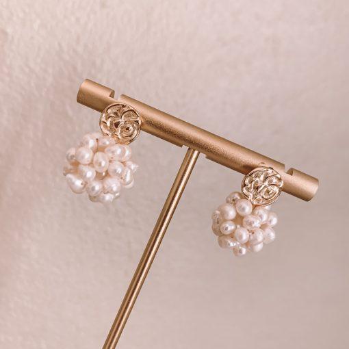 Pearl Charm Stud Earring Moxie Aruba