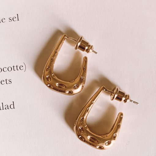 Brass Geometric Mini Earrings Moxie Aruba
