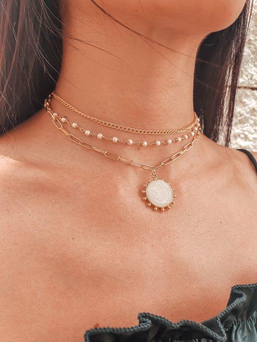 Sunburst Trio Choker Necklace